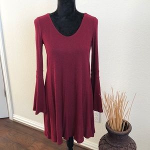 Altard state bell sleeves sweater dress small.